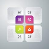 Infographics dell'illustrazione di vettore quattro opzioni Fotografia Stock