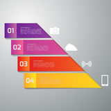 Infographics dell'illustrazione di vettore quattro rettangoli Modello moderno Fotografia Stock Libera da Diritti