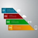 Infographics dell'illustrazione di vettore quattro rettangoli Templa moderno Immagine Stock Libera da Diritti
