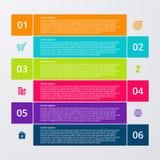Infographics dell'illustrazione di vettore sei opzioni Immagini Stock