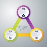 Infographics dell'illustrazione di vettore tre cerchi Immagini Stock Libere da Diritti
