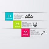 Infographics dell'illustrazione di vettore tre opzioni Fotografia Stock Libera da Diritti