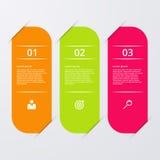 Infographics dell'illustrazione di vettore tre opzioni Fotografie Stock Libere da Diritti