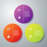Infographics dell'illustrazione di vettore tre opzioni Immagini Stock Libere da Diritti