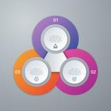 Infographics dell'illustrazione di vettore tre opzioni Fotografie Stock