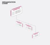Infographics dell'organigramma con l'albero, diagramma di flusso di dimensione illustrazione vettoriale