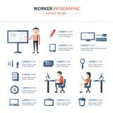 Infographics dell'ufficio Fotografie Stock Libere da Diritti
