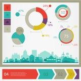 Infographics della città di Eco Fotografia Stock Libera da Diritti