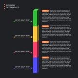 Infographics della colonna Stile piano Progettazione della scatola illustrazione di stock