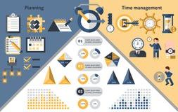 Infographics della gestione di tempo Fotografia Stock