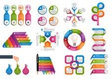 Infographics della raccolta Elementi di disegno Infographics per l'insegna di presentazioni o di informazioni di affari illustrazione di stock