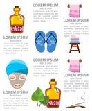 Infographics della stazione termale Fotografia Stock