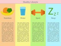 Infographics dello stile di vita sano Immagine Stock