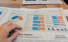 Infographics demográfico das eleições nos E.U. Imagem de Stock