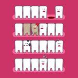 Infographics dental dos problemas Imagens de Stock Royalty Free