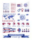 Infographics in der Gekritzelart Stockfotografie