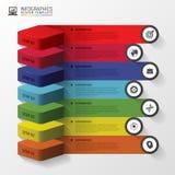 Infographics des escaliers 3d ou calibre abstrait de chronologie Illustration de vecteur Images libres de droits
