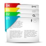 Infographics-Design Stockfoto