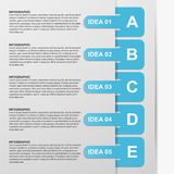 Infographics design with colored paper bookmarks. Vector illustration Stock Images
