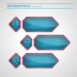 Infographics design elements. With space for text vector illustration