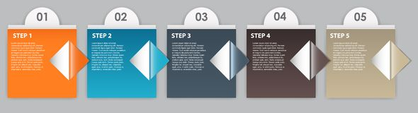 INFOGRAPHICS design elements vector illustration Royalty Free Stock Images