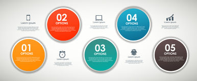 INFOGRAPHICS design elements vector illustration Stock Photography