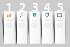 INFOGRAPHICS design elements vector illustration Stock Image