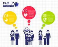 Infographics design with family Stock Photos