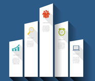 INFOGRAPHICS design flat elements with long Royalty Free Stock Photography
