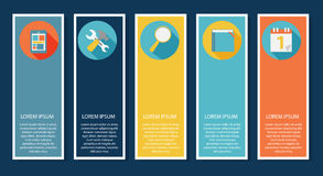 INFOGRAPHICS design flat elements with long Stock Photo