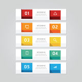 Infographics design geometric template banner. vector Royalty Free Stock Photo