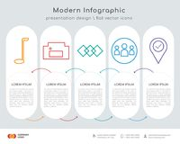 Golf infographics design. Infographics design  and golf, homefire, connected objects, community, location pin icons can be used for workflow layout, diagram Royalty Free Stock Image