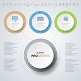 Infographics design marketing icons for Business Royalty Free Stock Images