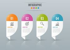 Infographics design  and marketing icons can be used for workflow layout, diagram, annual report, web design. Business conce. Pt with 4 options, steps or Royalty Free Stock Image