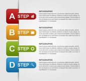 Infographics-Design mit Bookmarks des farbigen Papiers Stockfoto