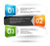 Infographics-Design mit nummerierten Elementen Lizenzfreie Stockfotografie