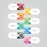 Infographics design options template banner. vector illustration Stock Images