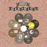Infographics. Design over dotted  background vector illustration Stock Image