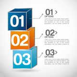 Infographics. Design over  gray background vector illustration Stock Photography