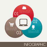 Infographics. Design over white background vector illustration Royalty Free Stock Photos