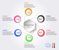 Infographics design for presentation. Infographics design for presentation, Template background with text space, Vector Design Royalty Free Stock Images