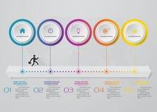 Infographics design with 5 steps timeline chart. EPS 10. Infographics design with 5 steps timeline for your presentation. EPS 10 stock illustration