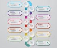 Infographics design with 10 steps timeline chart. EPS 10. Infographics design with 10 steps timeline for your presentation. EPS 10 stock illustration