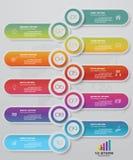 Infographics design with 10 steps timeline chart. EPS 10. Infographics design with 10 steps timeline for your presentation. EPS 10 vector illustration