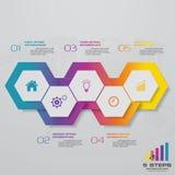 Infographics design with 5 steps timeline for your presentation. EPS 10 vector illustration