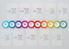 Infographics design with 10 steps timeline for your presentation. EPS 10 vector illustration