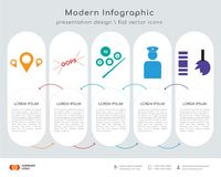 Store locator infographics design. Infographics design  and store locator, oops, snooker, veteran, durable icons can be used for workflow layout, diagram, annual Stock Images