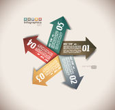Infographic design - original paper tags Stock Photo