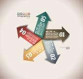 Infographic design - original paper tags Stock Photo