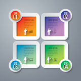 Infographics design template. Abstract 3D digital illustration Infographic. Vector illustration can be used for workflow layout, diagram, number options, web Royalty Free Stock Photo